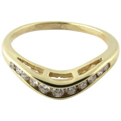 14 Karat Yellow Gold Diamond Wedding Band