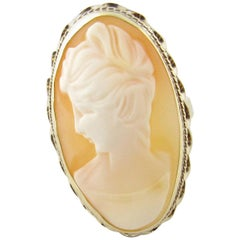 14 Karat Yellow Gold Cameo Ring
