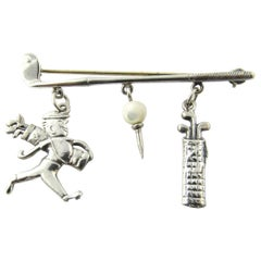 Sterling Silver Golf Brooch