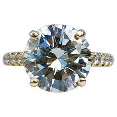 Diamond Brilliant Cut Solitaire Diamond Engagement Ring G.I.A M Colour 4.97ct TW