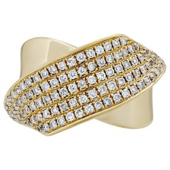 Estate 18 Karat Yellow Gold Diamond Ring