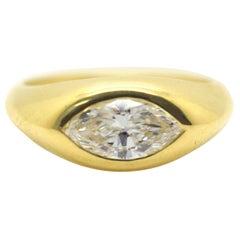 Cartier 1.25 Carat Marquise Diamond Vintage Ring