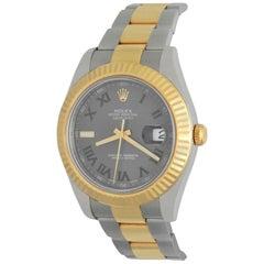 Rolex 18 Karat Yellow Gold Stainless Steel Datejust II Automatic Wrist Watch