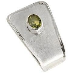Yianni Creations 2.00 Carat Peridot Fine Silver and Palladium Pendant Necklace