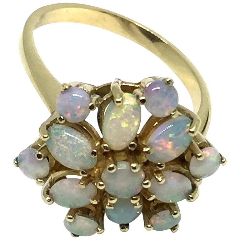 9 Karat Yellow Gold Opal Ring