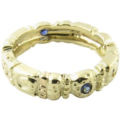 14 Karat Yellow Gold and Sapphire Ring