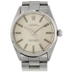 Certified Rolex Oyster Perpetual 1002 with Band and Silver Dial