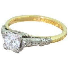 Art Deco 0.51 Carat Old Cut Diamond Engagement Ring, circa 1920