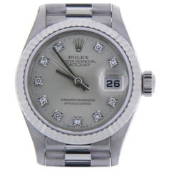 Certified 1999 Rolex Datejust 79179 Silver Dial