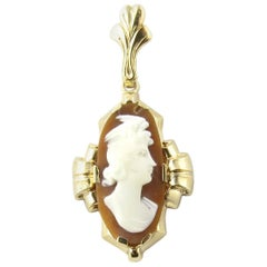 10 Karat Yellow Gold Cameo Pendant