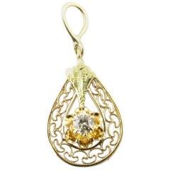 10 Karat Yellow Gold and Diamond Pendant