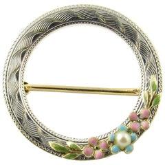 14 Karat Yellow Gold Circle Pin