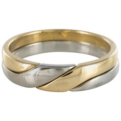 Mondern Interlaced Yellow Gold White Gold Wedding Rings