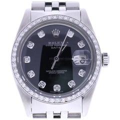 Certified Women's Rolex Date 1500 Black Dial