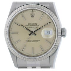 Certified Rolex Datejust 16234 with Band and Silver Dial