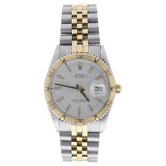 Certified Rolex Datejust 1625 with Band, Yellow-Gold Bezel and Silver Dial