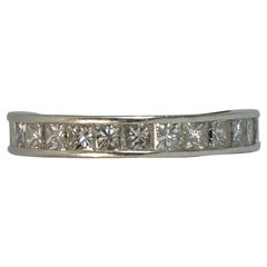 Natural 2.00 Carat Diamond and Platinum Full Eternity Stack Ring