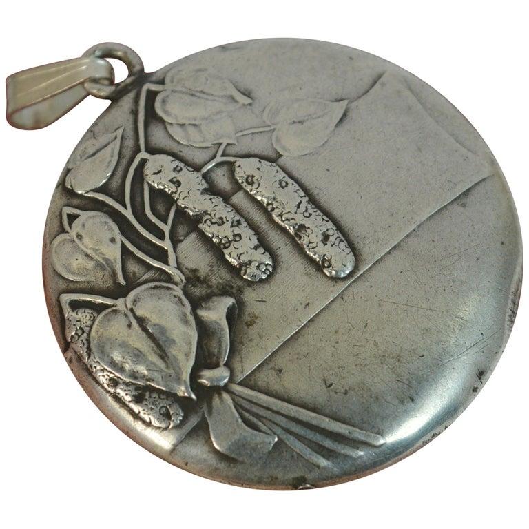 True Art Nouveau Solid Silver Pendant