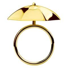 9 Carat Yellow Gold 'Cocktail Hour' Umbrella Ring