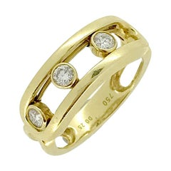Modern Messika Move Classique Yellow Gold Diamond Band Ring