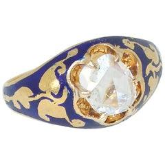 Antique Rose Cut Diamond Ring, circa 1850
