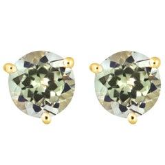 1.90 Carat Color Changing Diaspore Stud Earrings