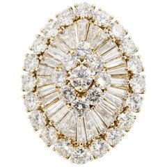Van Cleef & Arpels Diamond Cluster and 18 Karat Gold Dome Ring