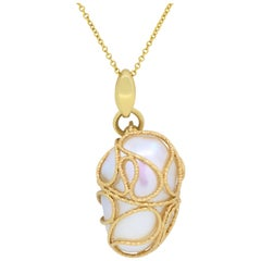 Two-Tone Mother-of-Pearl Pendant