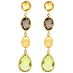 Multi-Color Gemstone Drop and Dangle Earrings