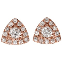 Triangle Diamond Earrings