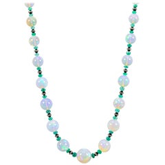 Opal Beaded Necklaces