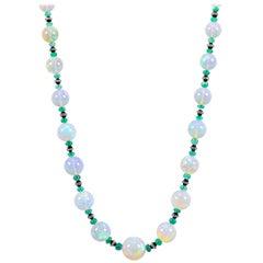 Graduated Opal Bead Necklace, 493.0 Carat