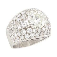 Platinum and Diamond 'Trombino' Ring, Bulgari