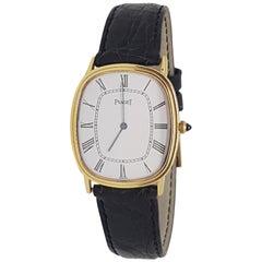 Piaget 18 Carat Yellow Gold Classic Men's Manual Wristwatch