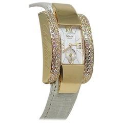 Chopard La Strada 18 Karat Yellow Gold White Diamond Wristwatch