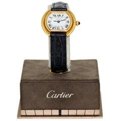 Cartier Wristwatch, Ellipse, 18 Karat Gold, Women, 1990-1999