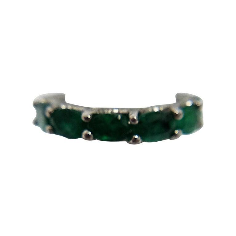 Platinum Colombian Emerald Ring