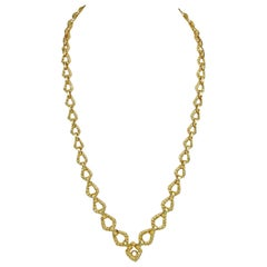 David Webb Rope Twist Link Necklace
