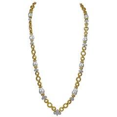 David Webb Diamond, Baroque Pearl Necklace