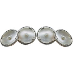 Art Deco Mother-of-Pearl and Gold Cufflinks