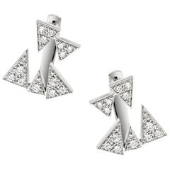 Akillis Capture Me Studs 18 Karat White Gold Set White Diamonds