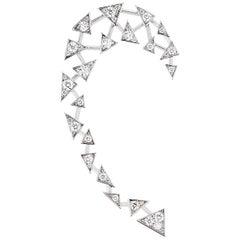 Akillis Capture Me Earcuff 18 Karat White Gold Set White Diamonds
