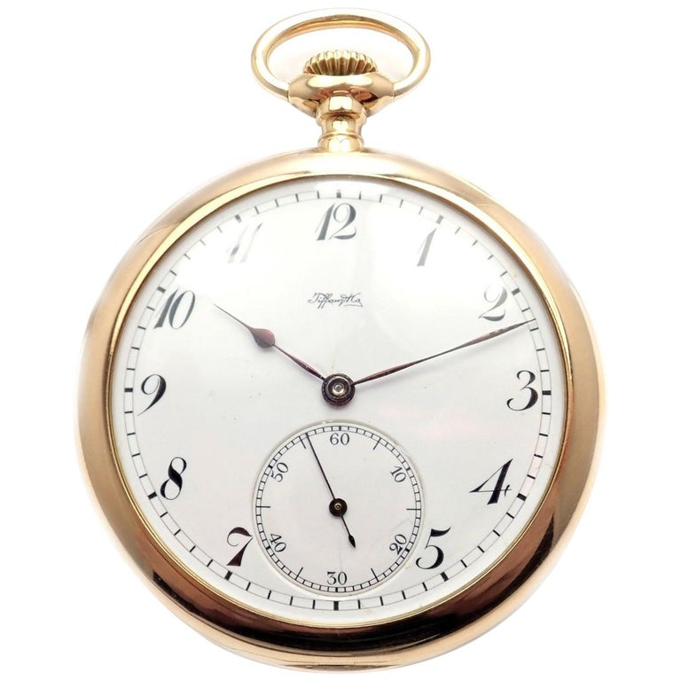 Tiffany & Co. Triple Signed Yellow Gold Pocket Watch