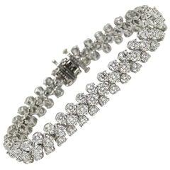 Oscar Heyman Platinum Bracelet with 14.47 Carat G Color VS1 Clarity