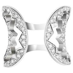 Akillis Capture Me Ring 18 Karat White Gold Set White Diamonds