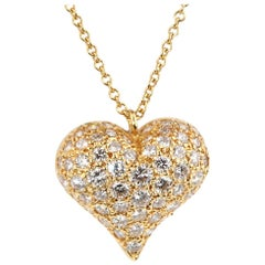 Tiffany & Co. Diamond Heart Gold Necklace