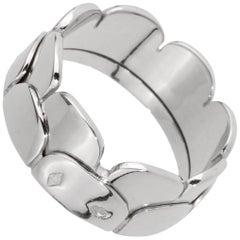 Hermes White Gold Band Ring