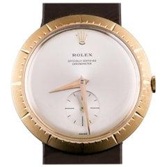 Rolex Modele de Depose 9522 18 Karat Gold Hand-Winding Watch with Box Papers