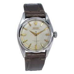 Rolex Steel Perpetual with Original Dial and Rare Multi Faceted Bezel from 1955