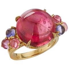 Daria de Koning Cabochon Pink Tourmaline Ring